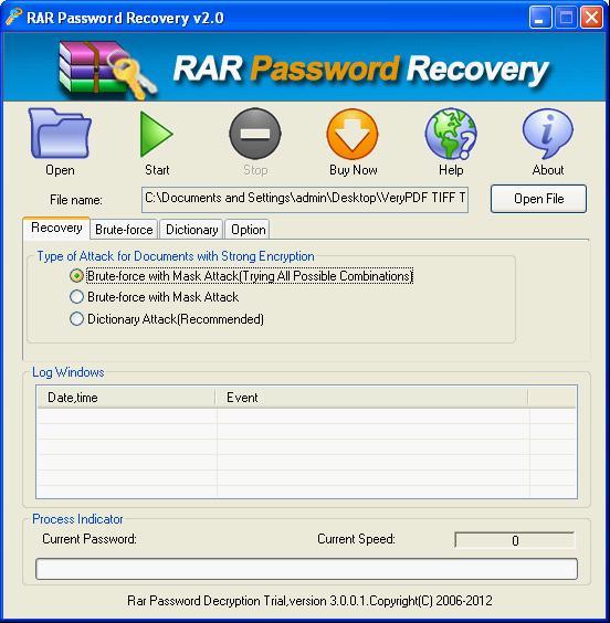 افضل برامج اختراق الملفات rar باسورد