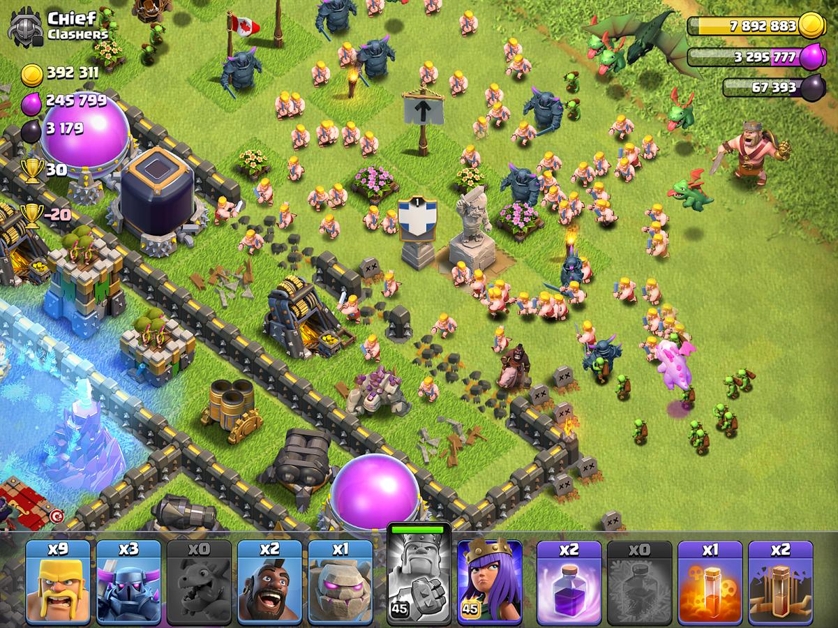 تنزيل لعبة clash of clans للايفون
